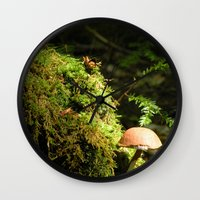 Mushroom chimney Wall Clock