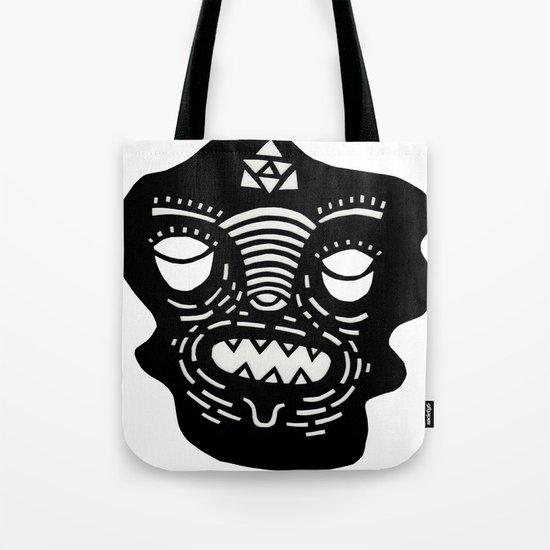 stencil face Tote Bag