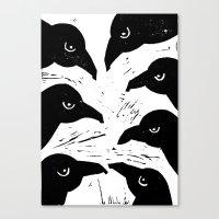 The Seven Ravens  Canvas Print