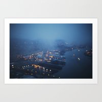 City Lights at Twilight Art Print