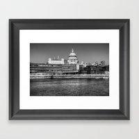 Views To St Pauls London Framed Art Print