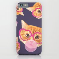 Bubblegum Cat iPhone 6 Slim Case