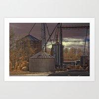 Grain Storage Art Print