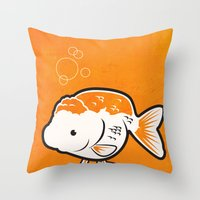 Ranchu Goldfish Throw Pillow