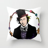 Merry Christmas From The Chocolate Factory Throw Pillow