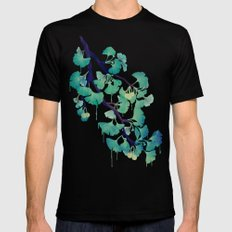 O Ginkgo (in Green) Black Mens Fitted Tee SMALL