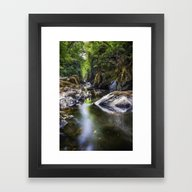Framed Art Print featuring Summer At Fairy Glen by Ian Mitchell