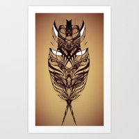 Evil Feather Art Print