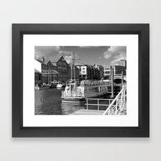 Pleasure boats on the York river Ouse. Framed Art Print