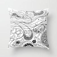 Geometric Stream Throw Pillow