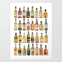 Single Malts Art Print