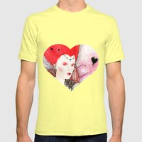 The Queen of Hearts Mens Fitted Tee Lemon SMALL