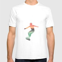 RIDE A MOUNTAIN Mens Fitted Tee White SMALL
