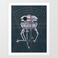 Imperial Probe Deco Droid Art Print