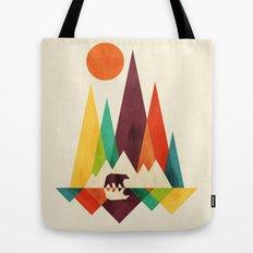 Bear In Whimsical Wild Tote Bag