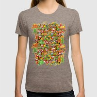 In Christmas melt into the crowd and enjoy it Womens Fitted Tee Tri-Coffee SMALL