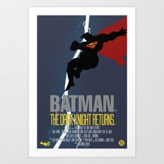 Supes Knight Returns Art Print