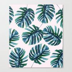 Monstera Pattern #society6 #decor #buyart Canvas Print