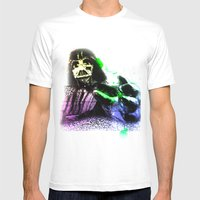 UNREAL PARTY 2012 DARTH VADER STAR WARS Mens Fitted Tee White SMALL