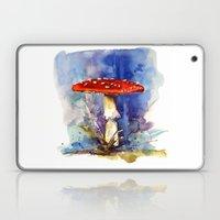 Fly Agaraic, Magic Mushroom, Mushroom, Shrooms, woodland, fairytale, toadstool Laptop & iPad Skin