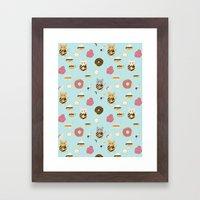 Donut Cat Framed Art Print