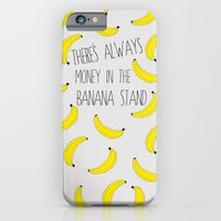 iPhone Cases featuring There's Always Money in the Banana Stand  by NOxLA