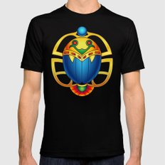 Ancient Egyptian Scarab … Mens Fitted Tee Black SMALL
