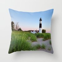 Big Sable Point Lighthouse - Ludington Michigan Throw Pillow