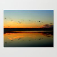 Canvas Print featuring sunset by Daniel Clifford