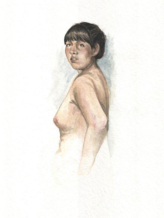Nude study 2 Art Print