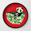 Dinnerware sets - panda in a bowl Wall Clock