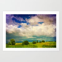 In a Landscape Art Print