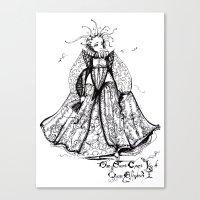 The Secret Court Jigs of Queen Elizabeth I Canvas Print