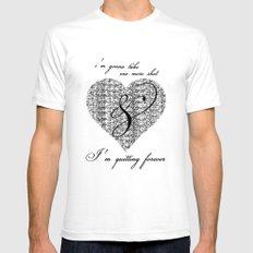 Cross my heart, cross my fingers. Mens Fitted Tee White SMALL