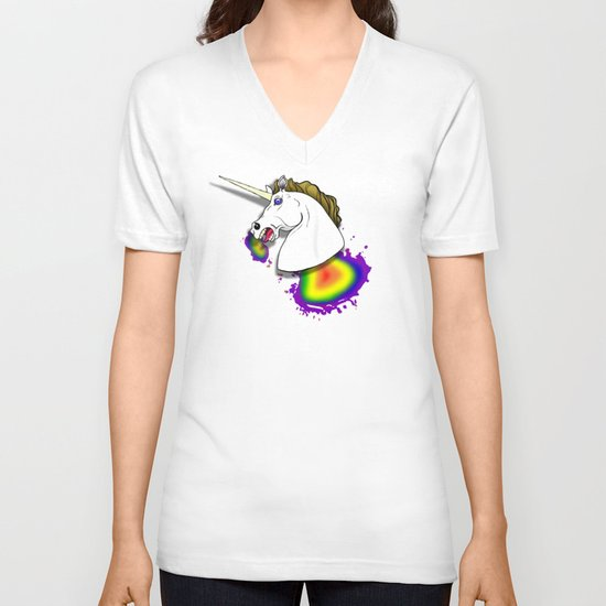 HOMOPHOBIA KILLS UNICORNS  V-neck T-shirt