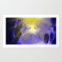 Art Print featuring Spirit Visage by Timothy DaRoma