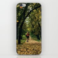 iPhone & iPod Skin featuring Lady In Red by Svetlana Korneliuk