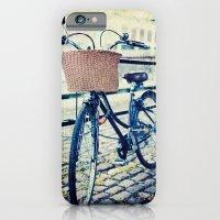 Locked bike in the city iPhone 6 Slim Case