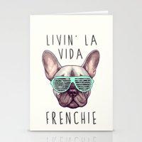 French Bulldog - Livin' … Stationery Cards