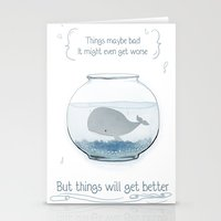 Whale in a Fishbowl Stationery Cards