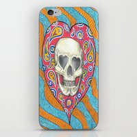 iPhone & iPod Skin featuring Skulladelia by ronnie mcneil