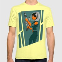 Spacewoman Mens Fitted Tee Lemon SMALL
