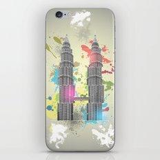Petronas Towers Abstract iPhone & iPod Skin