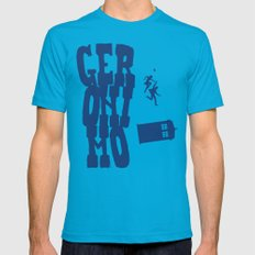 Geronimo Doctor Who Mens Fitted Tee Teal SMALL