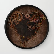 Steampunk Heart Wall Clock