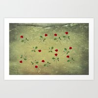 A Dozen Red Roses Art Print