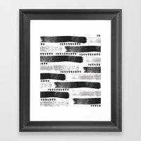 Brush Strokes #2 Framed Art Print