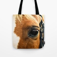 a horse's kind eyes. Tote Bag