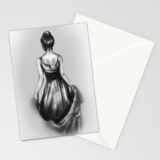 polite girl Stationery Cards