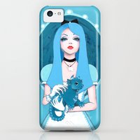 iPhone 5c Cases featuring Alice Wore Blue by Leilani Joy